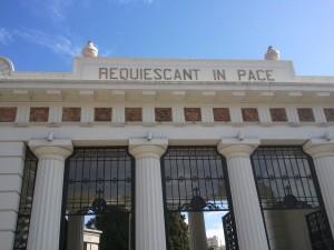 Entree begraafplaats Recoleta
